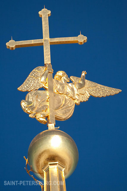 Full Size Van >> Angel with a Cross Weather-vane on the Spire of Peter and ...