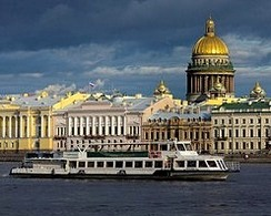 'On the rivers and canals of St. Petersburg' from the web at 'http://www.saint-petersburg.com/images/248x200/river-trips-st-petersburg.jpg'
