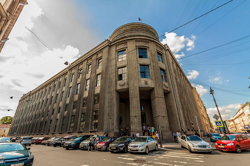 Former Russian Bank on Bolshaya Morskaya Ulitsa in Saint-Petersburg, Russia