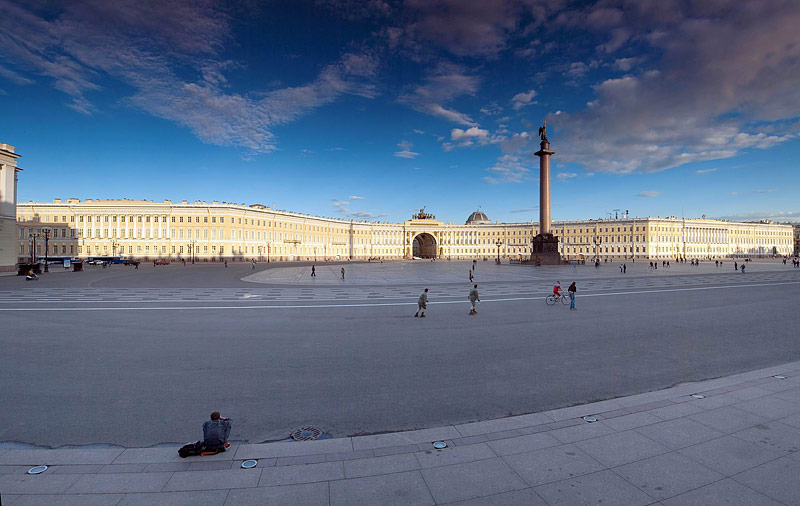 Palace Square in Saint Petersburg, Russia