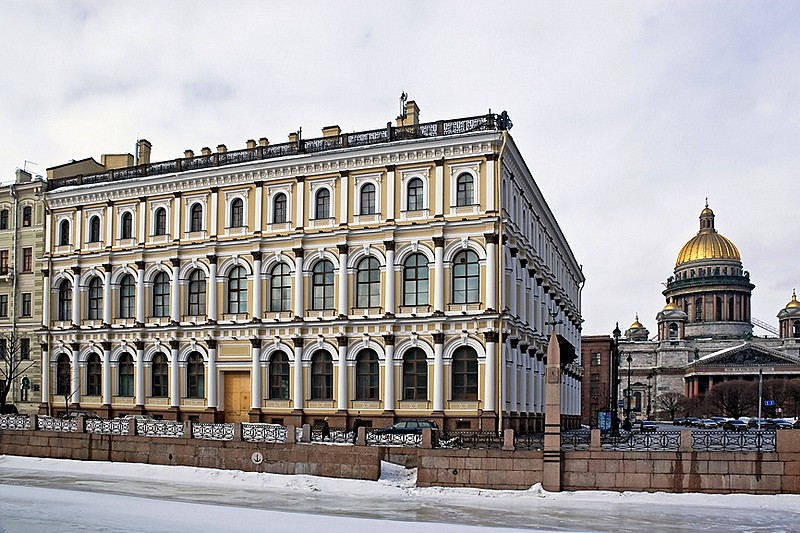 Former Ministry of State Properties Building on Isaakievskaya Ploshchad (St. Isaac's Square) in Saint Petersburg, Russia