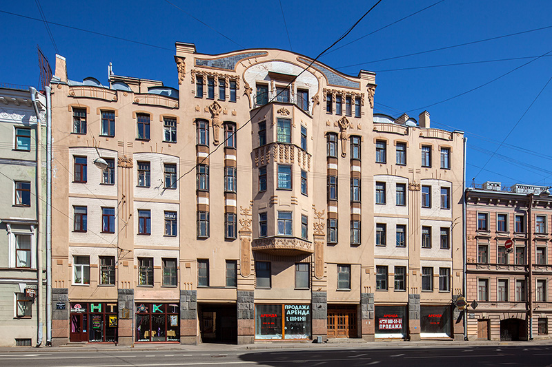 Art Nouveau on Voznesenskiy Prospekt: Orlov Apartment Building in St Petersburg, Russia