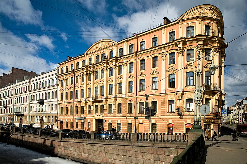 The building of the former Neapol (Naples) Hotel in St Petersburg, Russia