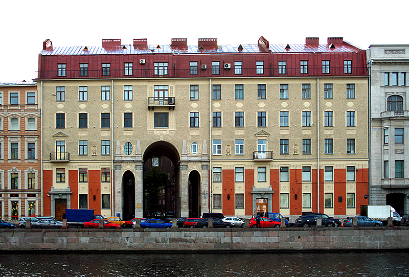 Tolstoy Apartment Building, built for Mikhail Tolstoy, in St Petersburg, Russia