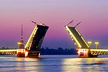 Bridges in St. Petersburg, Russia