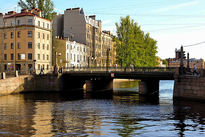 Alarchin Bridge over the Griboedov Canal in St Petersburg, Russia