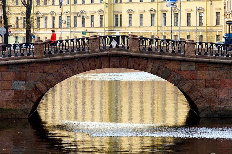 Kamenny (Stone) Bridge over the Griboedov Canal in St Petersburg, Russia