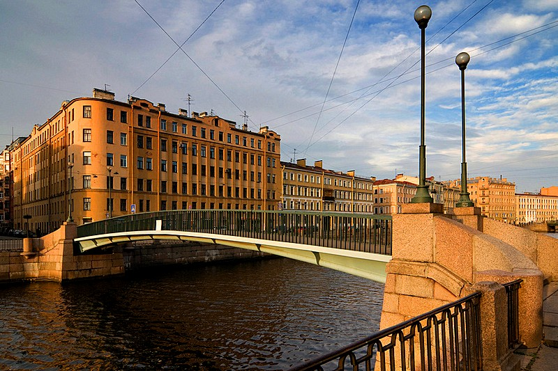 Kolomenskiy Bridge over the Griboedov Canal in St Petersburg, Russia