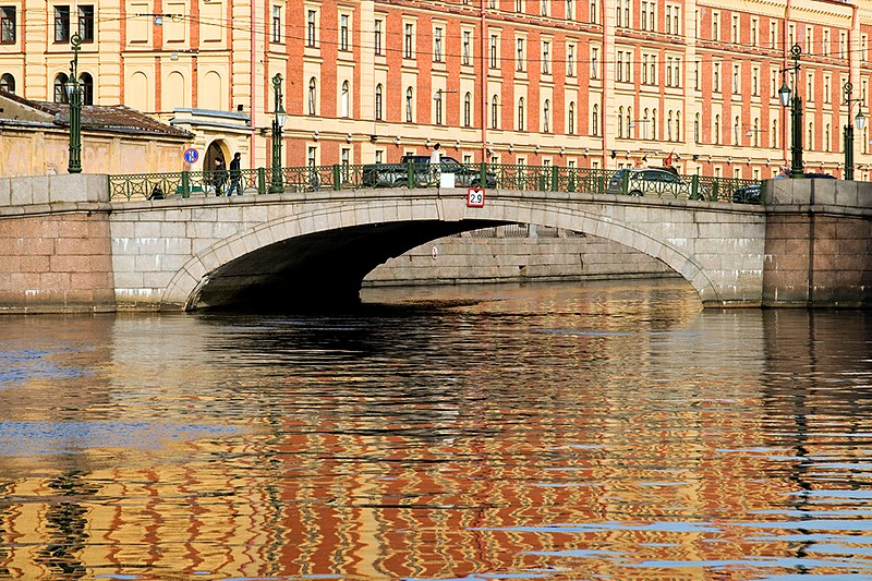 Mogilyovskiy Bridge over the Griboedov Canal in St Petersburg, Russia