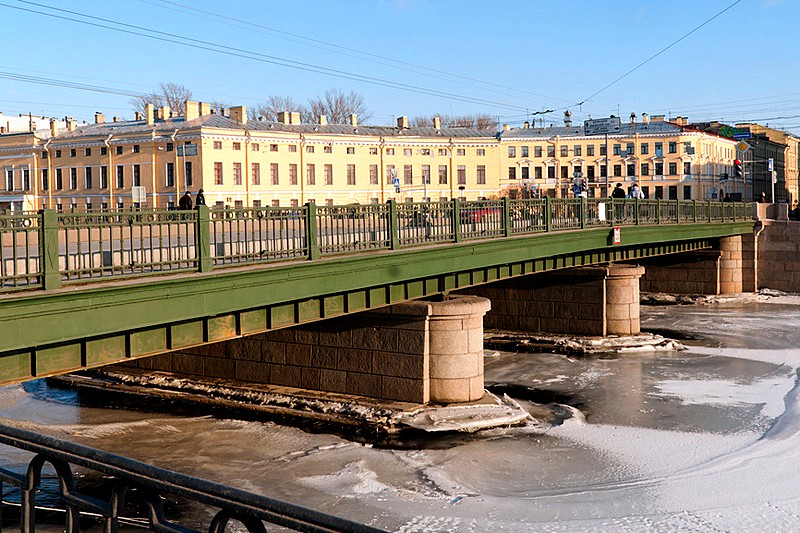 Semenovskiy Bridge over the Fontanka River in St Petersburg, Russia