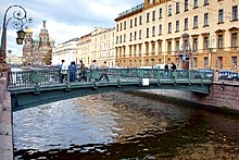 Bridges of the Griboedov Canal in St. Petersburg, Russia