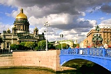 Bridges of the Moika River in St. Petersburg, Russia