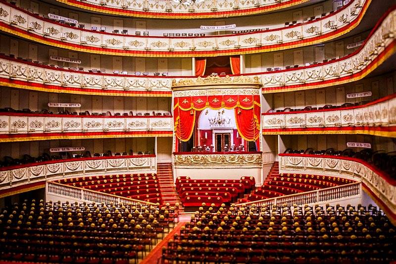 Main stage of the Alexandrinsky Theatre in St Petersburg, Russia