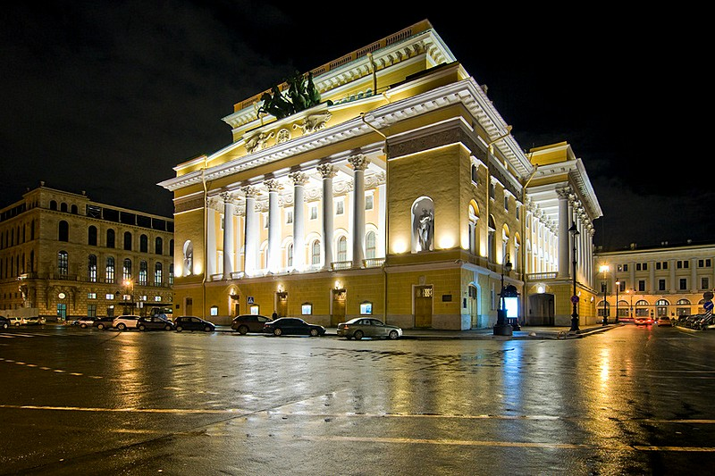 Alexandrinsky Theatre In St Petersburg Russia