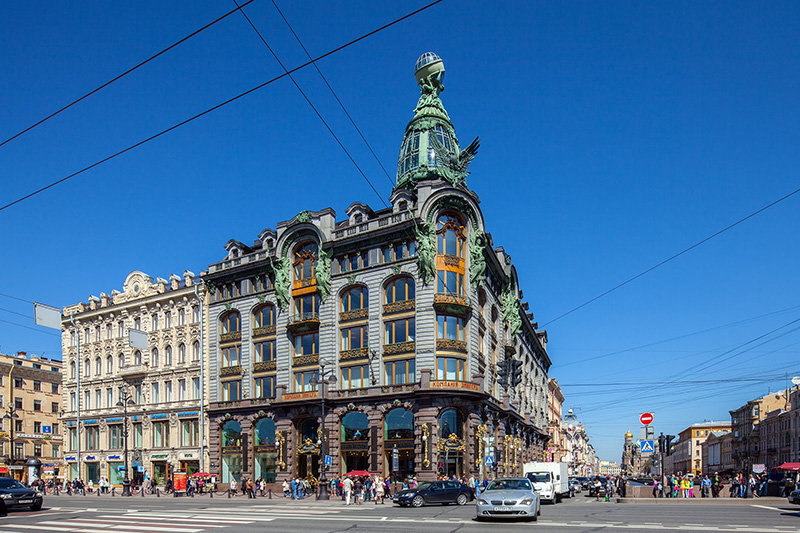Singer Company Building (Dom Knigi) on Nevsky Prospekt in St Petersburg