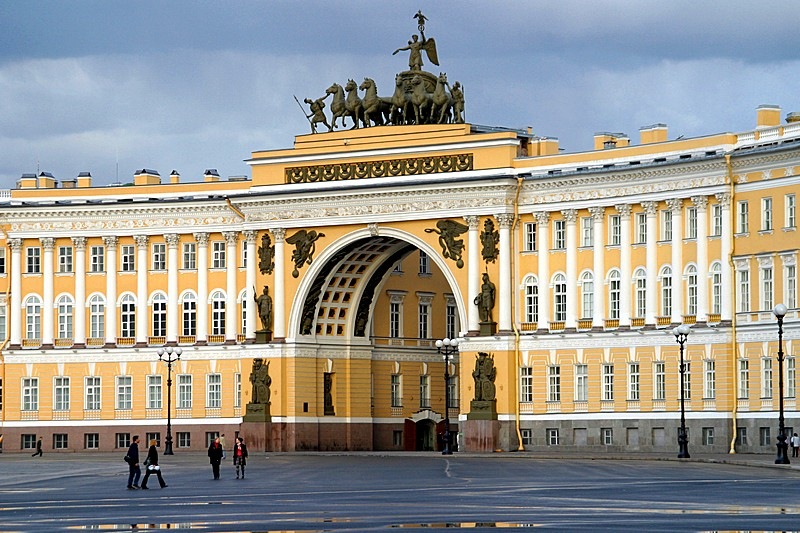 Arch of the General Staff Building in St. Petersburg, Russia