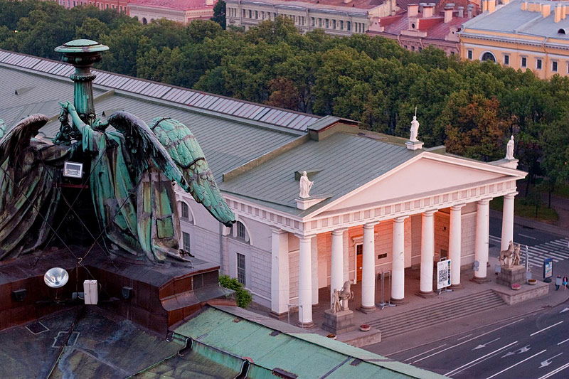 Konnogvardeyskiy Manege (Horse Guards Riding School) viewed from St Isaac's Cathedral in St Petersburg, Russia
