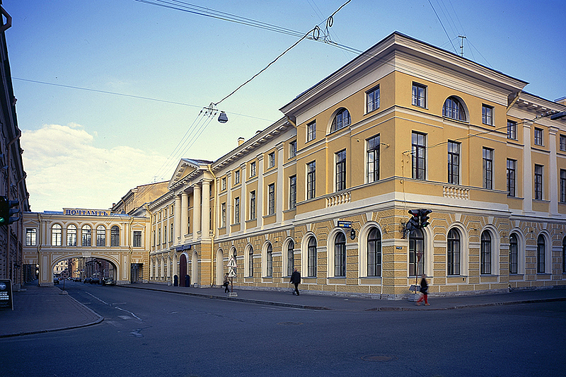 The Central Post Office in St. Petersburg, Russia