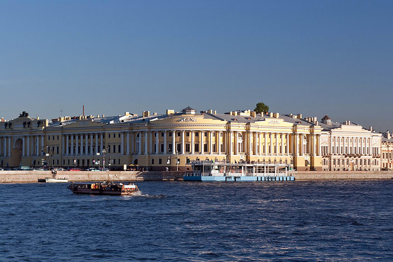 Senate and Synod Building seen from the Neva River in St Petersburg, Russia