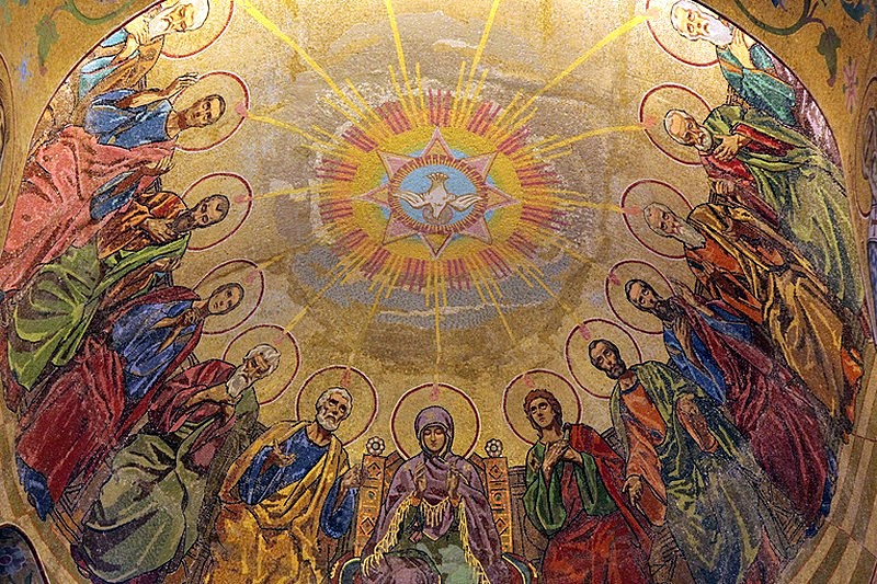 Ceiling mosaics at the Church of Our Savior on the Spilled Blood in Saint-Petersburg, Russia