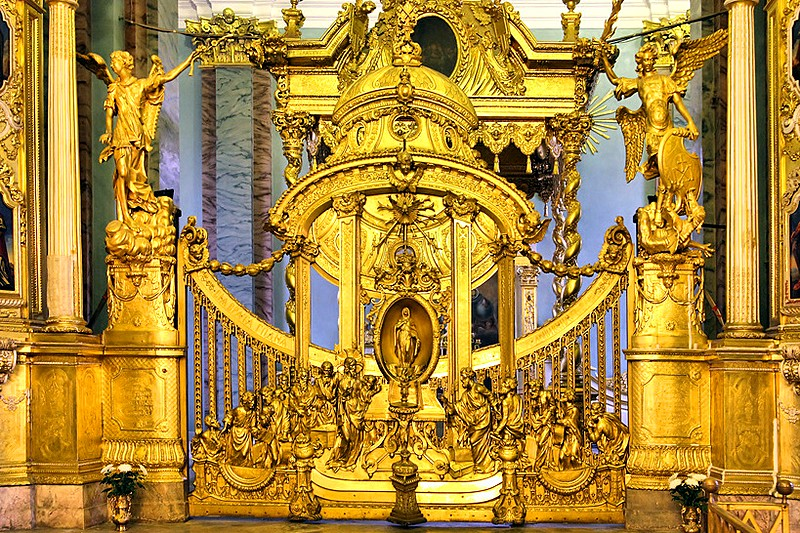 Central altar gate of the Peter and Paul Cathedral in St Petersburg, Russia