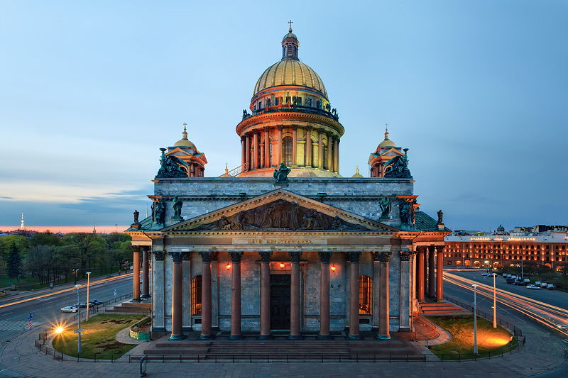 St. Isaac's Cathedral during the White Nights in St Petersburg, Russia