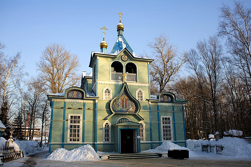 St. Serafim Church at Serafimovskoye Cemetery in Saint-Petersburg, Russia