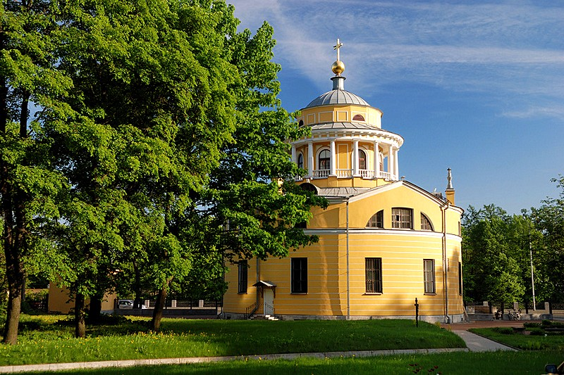 Church of the Annunciation of the Blessed Virgin on Primorskiy Prospekt in northwest St Petersburg, Russia