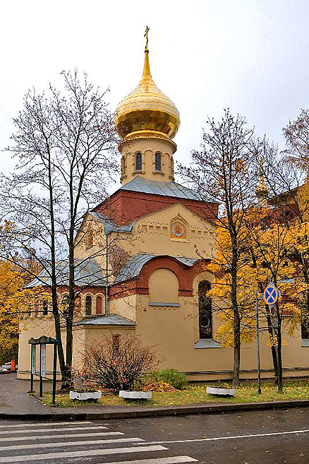 Church of the Intercession of the Holy Virgin at the Polytechnical Institure in St Petersburg, Russia