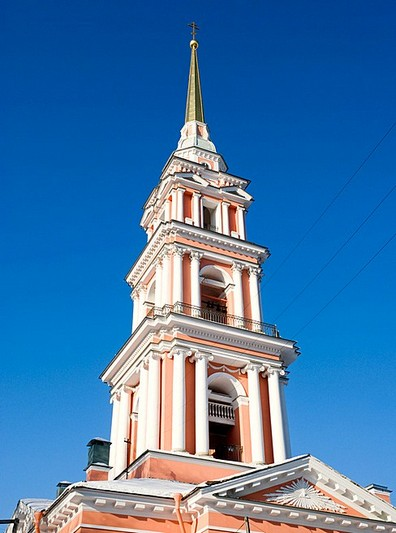 Bell-tower of the Cossack Church of the Exaltation of the Cross in Saint-Petersburg, Russia