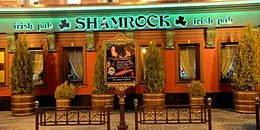 Shamrock restaurant in St. Petersburg, Russia
