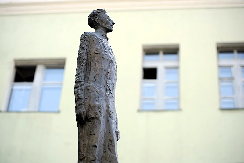 Monument to Alexander Blok erected in the courtyard of the Languages Department of St. Petersburg State University