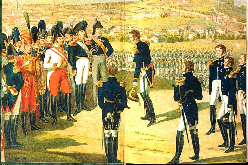 The culmination of the reign of Alexander I: Marshal Marmont hands over the keys of Paris to the Russian Emperor