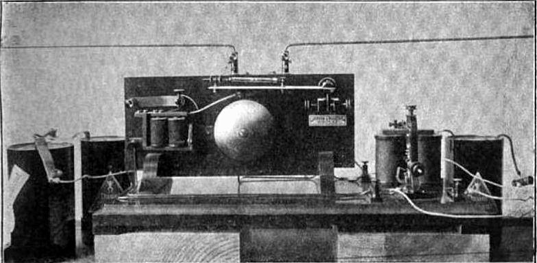 One of the first radio receivers, built by Russian physicist Alexander Popov as a lightning detector in 1894