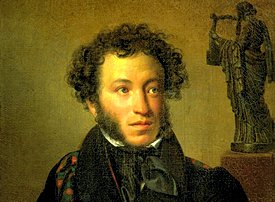 Portrait of Alexander Pushkin painted by Orest Kiprensky, 1827