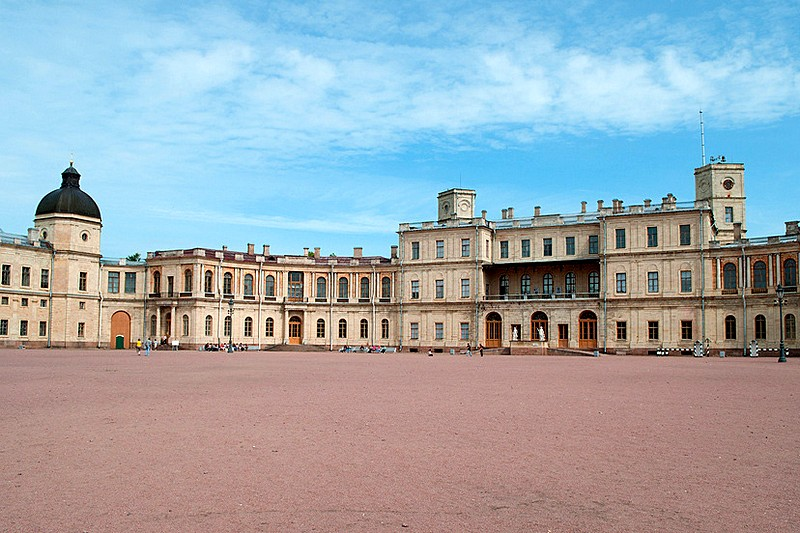 Grand Palace in Gatchina (south of St Petersburg) designed by Antonio Rinaldi