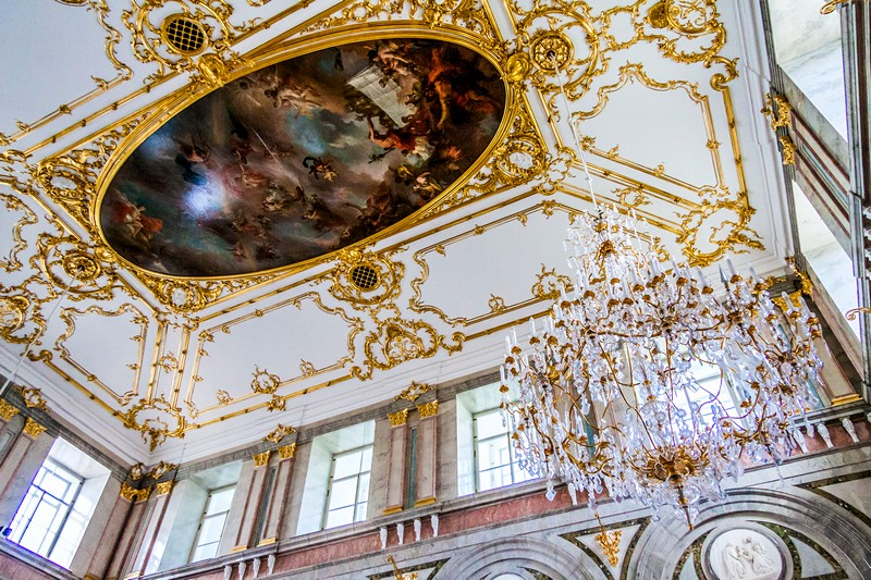 Interiors of the Marble Palace in Saint-Petersburg, Russia