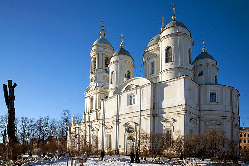 Prince Vladimir Cathedral on the Petrograd Side in St Petersburg, Russia