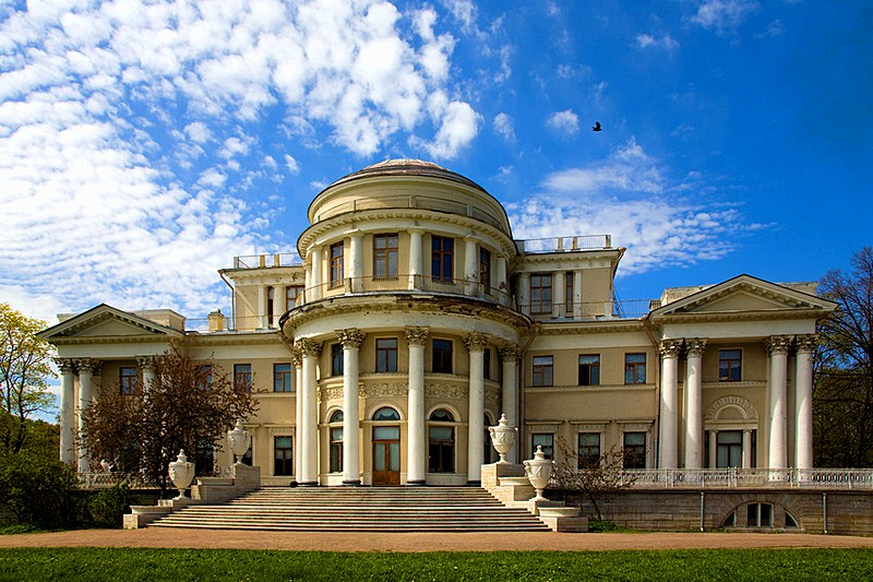 Yelagin Palace built by Carlo Rossi on Yelagin Island in St Petersburg, Russia