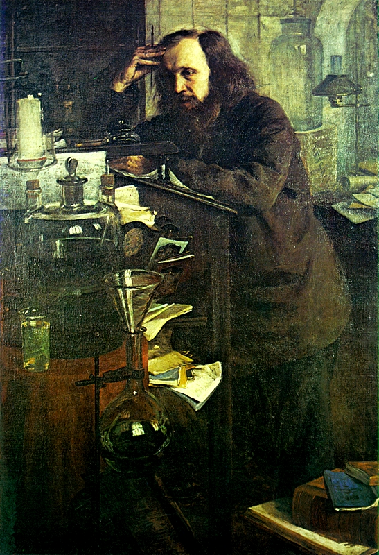 Dmitry Mendeleev at the Working Desk