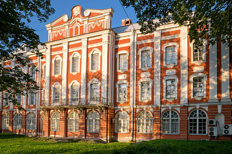 The building of the Twelve Colleges, designed by Trezzini in St Petersburg, Russia