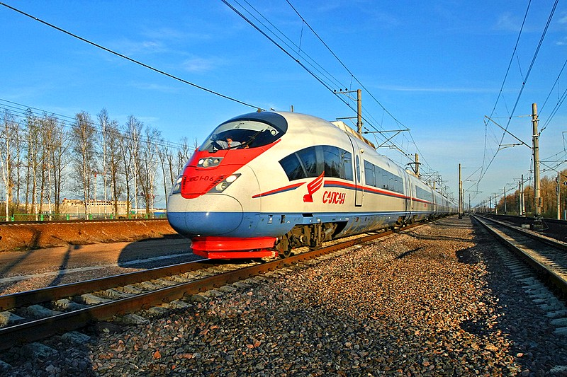 Modern high-speed trains follow the route designed by George W. Whistler between Moscow and St. Petersburg