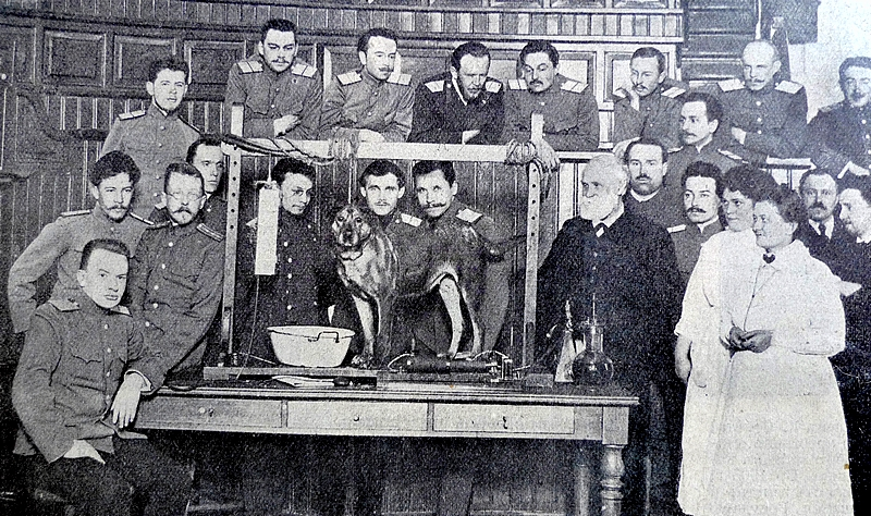 Prof. Ivan Pavlov in the laboratory