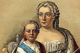 Portrait of Ivan VI and Anna Leopoldovna painted by Anonymous