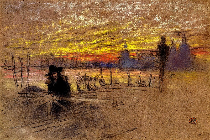 'Sunset: Red and Gold' by James Abbot McNeill Whistler
