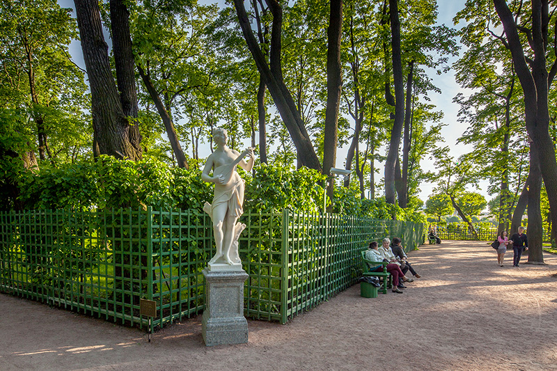 Summer Garden in St Petersburg, Russia, which was laid out by Jean-Baptiste Le Blond