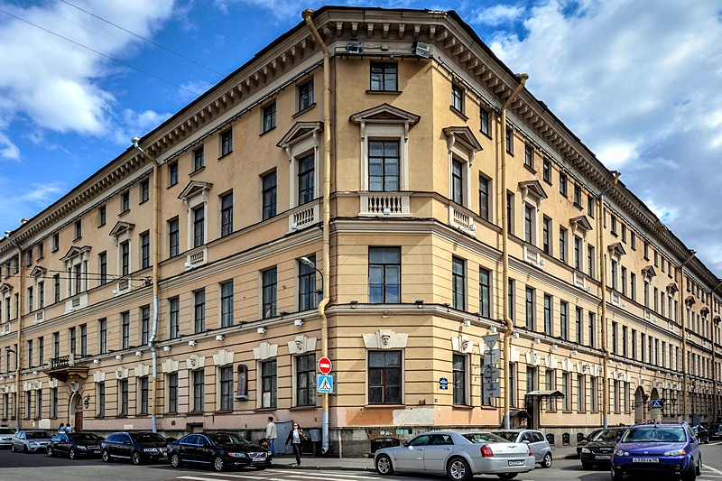 House in St Petersburg, Russia, which was once occupied by US Ambassador John Quincy Adams