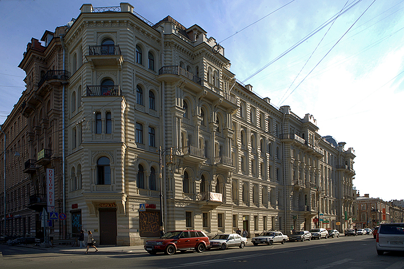 Muruzi House in St Petersburg, Russia, where Joseph Broodsky used to have an apartment