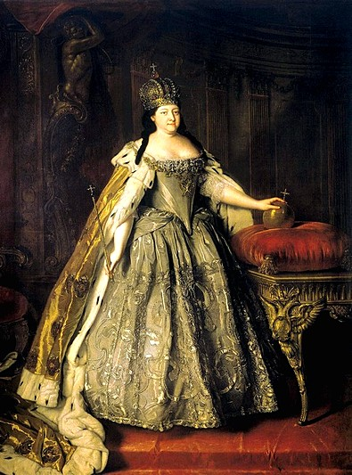 Portrait of Empress Anna Ioannovna by Louis Caravaque in St Petersburg, Russia