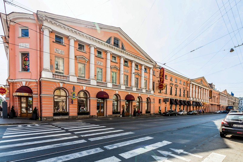 The House with Four Columns built by Luigi Rusca on Italyanskaya Ulitsa in St Petersburg, Russia